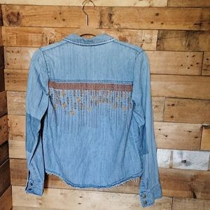 Free People Chambray Button Down
